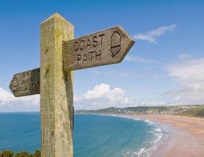 300_Woolacombe Coast Path Sign istock